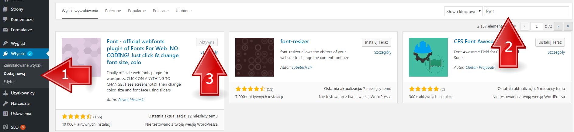Przydatne wtyczki w WordPress: font