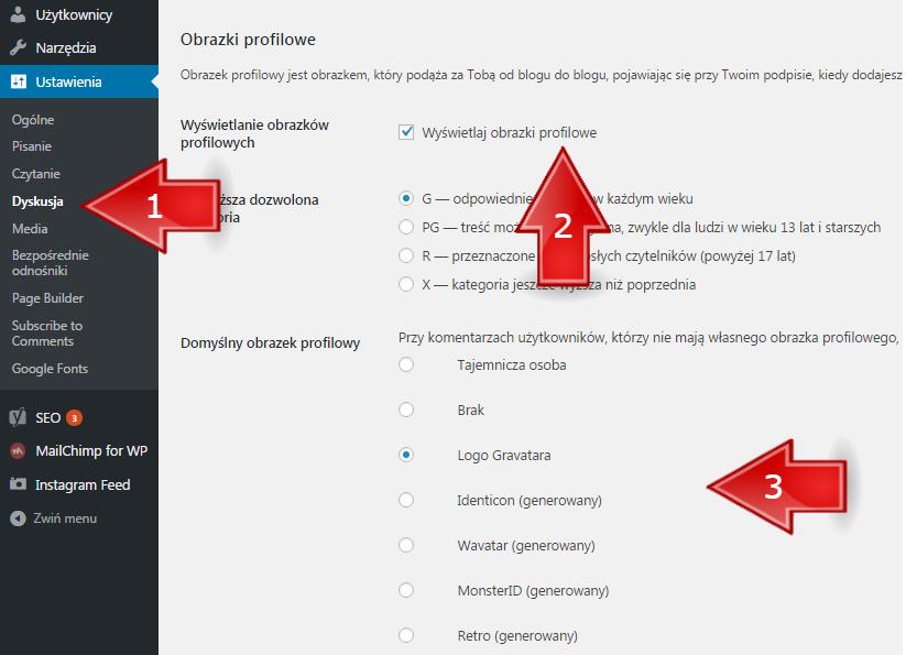 jak usunac obrazek profilowy wordpress1