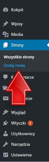 dodaj-nowa-strone-wordpress